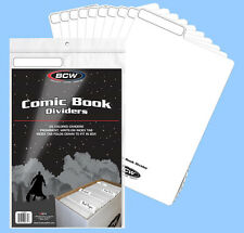 BCW: Fold-Tab Box Dividers: COMIC Size WHITE  25ct *FREE SHIPPING in USA