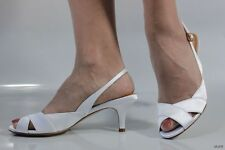 new COLE HAAN 'Ceci' Nike Air white satin open toe slingbacks shoes - wedding