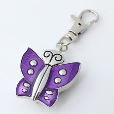 Beautiful Butterfly 6 Color Choose Pocket Necklace Quartz Watch Xmas Gift GL08
