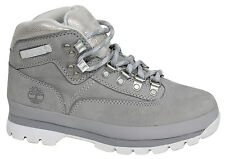 Timberland Euro Sprint Womens Hiking Boots Grey Silver Leather Lace Up A197J D26