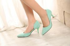 Fashion Pointed Toe High Heels Pumps Suede Hollow Out Stilettos Women OL Shoes