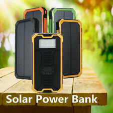 100000MAH SOLAR POWER BANK PORTABLE EXTERNAL BATTERY DUAL USB CHARGER FOR MOBILE