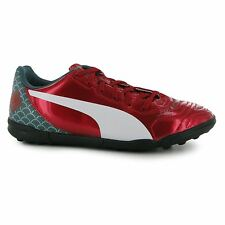 Puma Kids Evo Power 4.2 Junior Graphic Turf Trainers Lace Up Lightweight Shoes