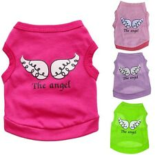 Puppy Pet Dog Printing T-shirt Clothes Vest Coat Costumes Outfit 4 Sizes Summer