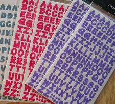 Dot 2 Dot ALPHABET Letters Stickers CHOICE of Red OR Purple Hat Society Crafts