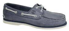 Timberland Classic 2 Eye Mens Blue Leather Lace Up Boat Deck Shoes A130M T2