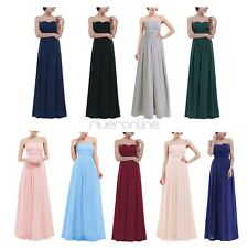 Women Chiffon Formal Bridesmaid Dress Long Evening Ball Prom Gown Party Wedding