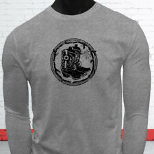 RODEO COWBOY BOOTS BLACK COUNTRY WESTERN COWGIRL Mens Gray Long Sleeve T-Shirt