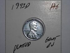 wheat penny 1943D NICE BU STEEL LINCOLN CENT 1943-D LOT #6 UNC STEEL LUSTER