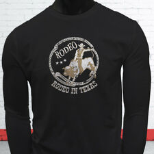 COWBOY RODEO IN TEXAS COUNTRY WESTERN PROUD BULL Mens Black Long Sleeve T-Shirt