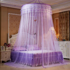 Luxury Princess Pastoral Lace Bed Canopy Net Round mosquito nets  Crib butterfly