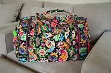 Vera Bradley Large Duffel Travel Bag in Midnight with Mickey