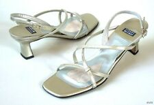 """new STUART WEITZMAN """"Twigs"""" strappy silver leather sandals Shoes 5 - wedding"""