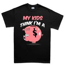 Dad Piggy Bank Father's Day Gift Daddy Mens T shirt Tee Top T-shirt