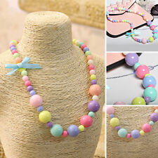 Jewelry Necklace Kids Mixed Color Imitation Pearl Children Girls Lovely Pretty