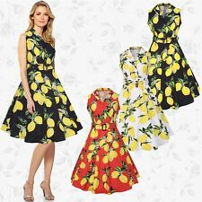 Womens 50s 60s Vintage Rockabilly Swing Wiggle Retro Floral Cocktail Party Dress