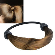 Women Straight/Braid Wig Elastic Hair Band Rope Scrunchie Ponytail Holder EH