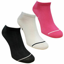 Puma Womens Unisex Multipack Ankle Black White Pink Trainer Liner Socks