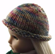 Doll Clothes Knit Hat Greens and Tan fit 18 inch American Girl