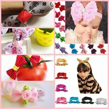 1pc Newborn Baby Girls Kid Lace Flower Headband Headwear Hair Clip Bow Accessory
