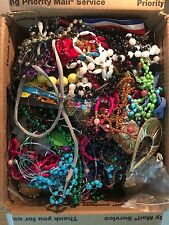 HUGE LOT Vintage to Now JUNK Broken Jewelry 14+LBs Medium PRIORITY BOX Repurpose