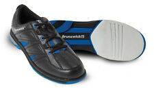 Bowling Shoes Men's Brunswick ick Warrior black/blue for Right and Left-handed