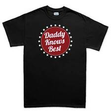 Daddy Knows Best Father Dad Gift New Mens T shirt Tee Top T-shirt
