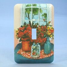 Leviton 1-Gang Flower Pot Wall Plate Switch Metal Cover Switchplate 89001-FLW