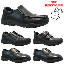 RED TAPE LEATHER BOYS INFANT JUNIOR SMART CASUAL SCHOOL TRAINERS SHOES SIZE
