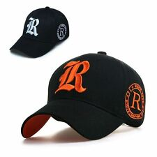 New Black NEW BALL CAP Baseball caps TRUCKER HAT SUN VISOR Caps with R Letter