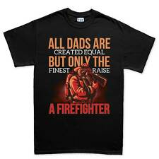 Fire Fighter Dad Father Daddy New Gift Mens T shirt Tee Top T-shirt