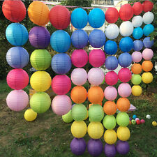 """Multicolor Chinese Paper Lantern Wedding Birthday Party Decoration 10"""" 12"""" 16""""TB"""