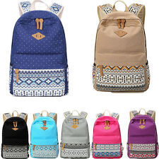 US Fashion Backpack Rucksack Women Canvas Quality School Bag Campus Athleisure