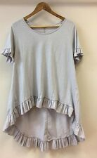 LAGENLOOK COTTON FRILL TUNIC FITS 12-10 OSFA LAYERING BOHO QUIKRY MADE IN ITALY