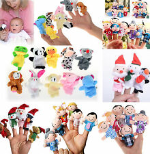 Hot New Animal Finger Puppets Plush Cloth Doll Baby Educational Hand Kids Toy CH