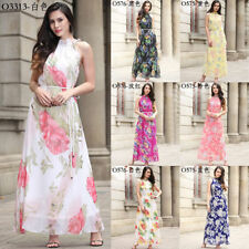 Womens Summer Maxi Boho Hippie Floral Long Dress Evening Cocktail Party Sundress