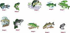 6 Shirts Embroidered Free4Ur W Fishing UrName Large Mouth Bass & Others