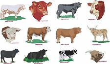 New Jacket Embroidered 4Ur Farm Angus Hereford Charolais Limousin Simmental &