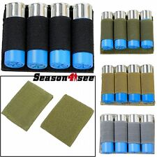 4 Round Outdoor Tactical Airsoft Shell Molle Ammo Holder Bullet Carrier Pouch