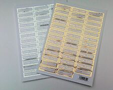 Die Cut Wedding Invitation Words / Sentiments Banners / Captions Gold or Silver