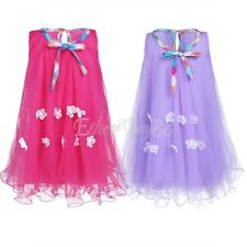 Baby Kid Girls Summer Sleeveless Tulle Dress Birthday Party Holiday Tutu Dresses