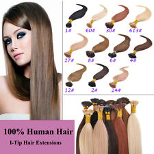 50g 100pcs 18''20''22'' 100% Remy I-Tip Human Hair Extensions + Micro Beads