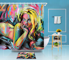 """Pinup Beauty Naked Lying 72/79"""" Home Shower Carpet Doormat Rug Curtain Bath 3453"""