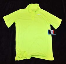 Nike TENNIS DRI-FIT neon yellow stretch polo shirt top Boys Youth M / L  /XL $30