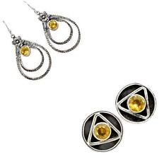 925 sterling silver citrine earrings jewelry by jewelexi 5413A