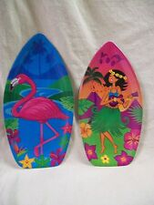 Flamingo or Hula Girl Serving Tray Platter Luau Party Tropical Beach Tableware