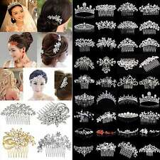 CHIC Bridal Wedding Rhinestone Crystal Hair Headband Crown Comb Tiara Pageant