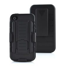 Shockproof Rugged Hybrid Armor Hard Box Belt Clip Holster Case Cover for iPhone4