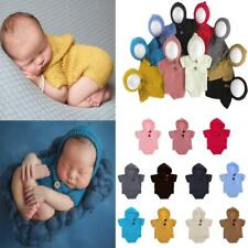 Newborn Baby Hooded Prop Outfits Boy Girl Crochet Knit Costume Photo Photography