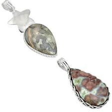 Jewelexi mexican laguna lace agate 925 sterling silver pendant 5610A